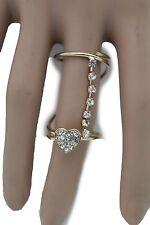 Jewelry Metal Silver Heart Love 8 Elegant Women Gold Wrap Around Ring Fashion
