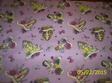 New Disney Princess Badges on Lavender 100% Cotton fabric by the 1/2 yard