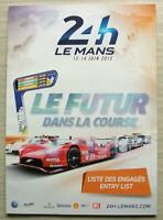 LE MANS 24 HOUR ENDURANCE CAR RACE June 2015 Official ENTRY List Booklet