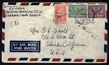 Saudi Arabia Airmail cover Dhahran to Ukiah California Mid 20th century