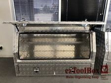 Aluminium Side Opening Open Ute Tool Box Toolbox with 2 Drawers 1400x550Wx800Hmm