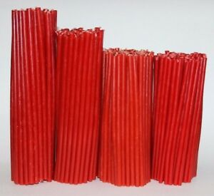 Beeswax candles 55-115 pcs for church and home high quality. Red candles Prayer