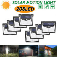 LITOM 208 LED Solar Power PIR Motion Sensor Wall Light Outdoor Garden Waterproof