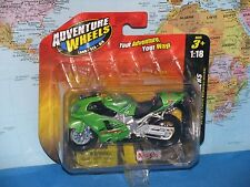 1/18 MAISTO ADVENTURE WHEELS 2-WHEELERS KAWASAKI NINJA ZX-12R *BRAND NEW & RARE*