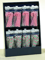 PACK OF 6 CANDY CANES CHRISTMAS TREE FESTIVE DECORATIONS STRIPY 13CM CANE SWEETS