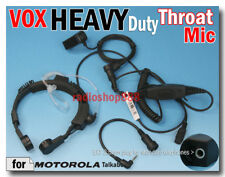Heavy Duty VOX Throat Mic Motorola Talkabout 2.5mm plug