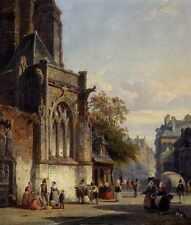 Springer Cornelis Town Square Before A Church A Capriccio A4 Print