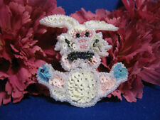 BABY BUNNY RABBIT SEQUIN BEADED APPLIQUE 0683-K