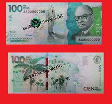 Colombia 100000 peso 2014 SPECIMEN UNC - Reproduction