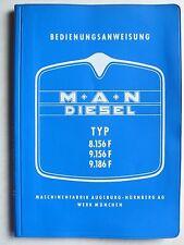 MAN Typ 8.156 F / 9.156 F / 9.186 F - Bedienungsanweisung, 11.1967, 84 Seiten