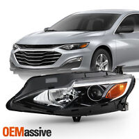 For 2019-2020 Chevy Malibu [Halogen Type] Projector Chrome Headlight Driver Left