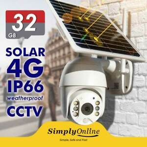 4G Solar Powered Cable Free 24/7 Security PTZ camera + 32 GB SD CARD
