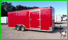 8.5 x 20 20ft Enclosed Cargo Racing Dragster Motorcycle Show Car Hauler Trailer