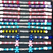Personalised Dummy holder chain clip Boys or Girls