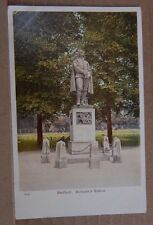 Postcard Bedford Bunyan's Statue Early colour Card Unposted