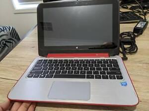 HP Pavilion x360 11 inch touch screen laptop plus shoulder bag plus more