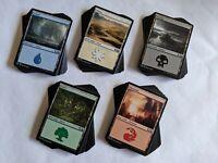100 NM BASIC LAND MAGIC THE GATHERING CARDS COLLECTION Lot Set 20 Each Mana MTG