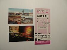 Morton Grove Motel Morton Grove Illinois vintage brochure + 2 postcards