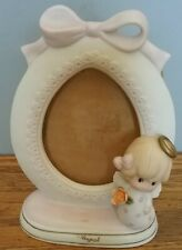 Lefton Picture Frame-August-1970's- Old Stock-Cute Frame with Girl Angel