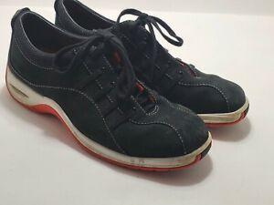 Cole Haan NikeAir Black-Orange Leisure Tennis Shoes Men's Size 7.5B