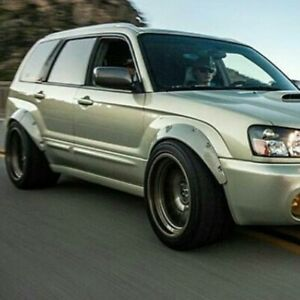 """Fender Flares For Subaru Forester SG Wide Body Kit Arch Extensions 3.5"""" 4pcs"""