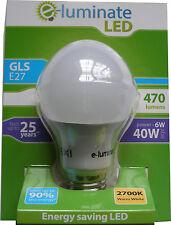 1 x ENERGY SAVING E27 6W GLS GLOBE ROUND LED BULB - WARM WHITE 2700K SCREW FIT