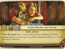 A Game of Thrones 2.0 LCG - 1x Power Behind the Throne  #018 - Base Set - Second