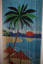 HANDMADE BAMBOO CURTAIN BLINDS DOOR FLY SCREEN ROOM DIVIDER PALM TREE 90 Strands