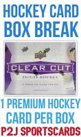 2019/20 Upper Deck Clear Cut Hockey Card Box Break NHL 1 RANDOM TEAM Break 4484