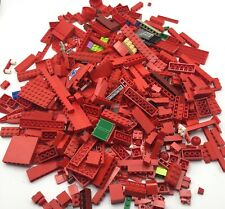 LEGO HUGE 1 POUND 13 OUNCE LOT OF RED PIECES ASSORTED COLOR BRICKS BLOCKS PARTS