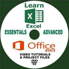 MICROSOFT OFFICE 2013 EXCEL BEGINNERS& ADVANCED SUPERB TRAINING VIDEOS ON PC-DVD
