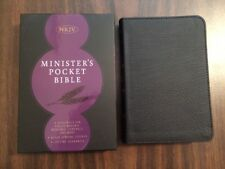 NKJV Ministers Pocket Compact Bible - $44.99 Retail - Black Genuine Leather