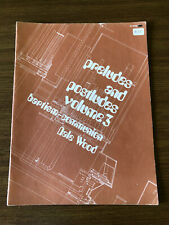 Preludes&Postludes Vol.3 Organ Sheet Music Religious Devotional 1974 Liturgical