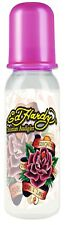 Ed Hardy Baby Bottle Christian Audigier Pink Dedicated Tattoo Design Bottle