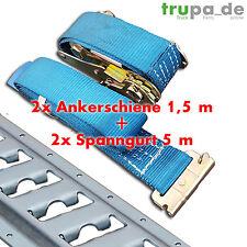 3m Ankerschiene Kombi Zurrschiene (2 x 1,5 m) + 2 x Spanngurt 5m / 1000-2000 daN