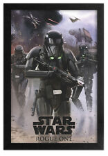 STAR WARS ROGUE ONE DEATH TROOPER 13x19 FRAMED GELCOAT POSTER FORCE DARTH VADER!