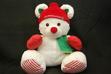 Puffalump Christmas Mouse 1993 Stocking Cap Nylon Red White Green Holiday