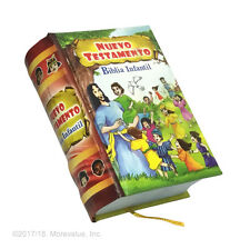 Biblia Infantil Nuevo Testamento Ilustrada en español libro miniatura 430 pag