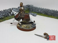 King Theoden Mounted Metal - Lord of the Rings Warhammer Rohan - Well Painted -