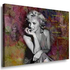Julia-Art / Leinwand-Bild Marilyn Monroe Schauspielerin Leinwanddruck Top