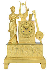PENDULE MUSIQUE. Kaminuhr Empire clock bronze horloge antique uhren cartel