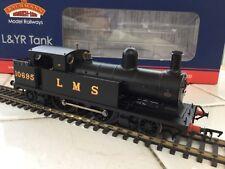 Bachmann OO 31-165 LMS Black 2-4-2 L&YR Tank Loco 10695 mint unused
