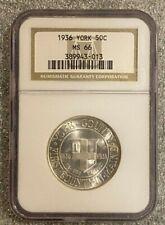 1936 York Commemorative Half Dollar NGC MS66 Nice ! * Take  LooK *