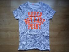 Superdry Men's East Point T-Shirt White with Palm Tree Leaves Print Fit Size S