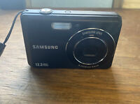 Samsung Digimax SL105 12.2MP Digital Camera - Black needs new battery Box 9
