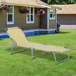 Outsunny Camping Cot Picnic Sun Lounger Portable Folding Chaise Chair Patio
