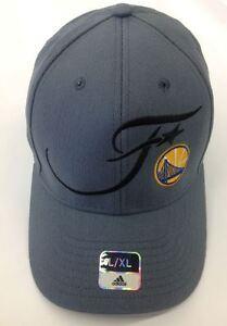 Golden State Warriors 2016 NBA finals  Adidas Dark Gray Flexfit Hat L/XL