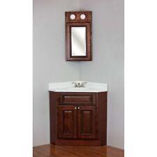 24x24 Brandywine Maple Corner Vanity Cabinet W/Top & Med Cabinet
