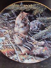 W. L. George 1989 Our Woodland Friends BENEATH THE PINES  Chipmunk Ltd Ed Plate