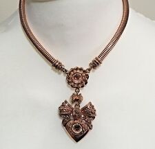 BEAUTIFUL BUTLER & WILSON CRYSTAL HEART/BOW NECKLACE -#7